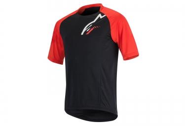 alpinestars maillot manches courtes trailstar noir rouge l