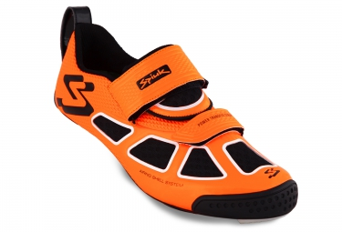 spiuk paire de chaussures triathlon trivium carbon orange noir 42