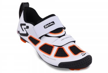 SPIUK Paire de Chaussures Triathlon TRIVIUM Blanc Noir Orange