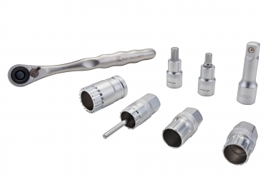 BIRZMAN Ratchet wrench set 1/2''. 8 PCS/SET silver