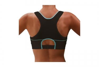 thuasne sport brassiere top strap x back noir bleu 85b