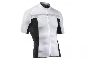northwave maillot manches courtes evolution blanc noir xl