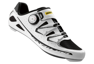 mavic chaussures route ksyrium ultimate blanc noir 46