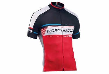 northwave maillot manches courtes logo 2 rouge noir xxl