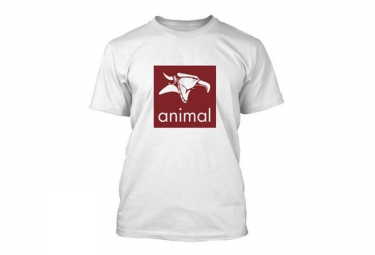 ANIMAL T-Shirt LOGO Blanc
