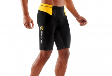 cuissard de compression skins tri400 homme noir jaune l