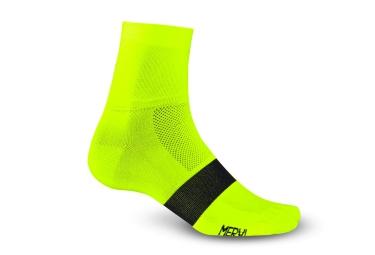 Giro paire de chaussettes classic racer jaune fluo 40 42