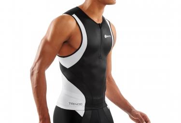 maillot de compression skins tri400 homme noir blanc xl