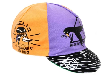 CINELLI Casquette HIGH FLYERS Orange Violet