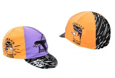 cinelli casquette high flyers orange violet