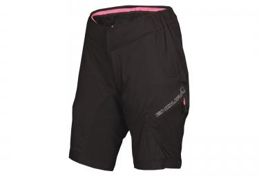 short avec peau femme endura hummvee lite noir rose xs