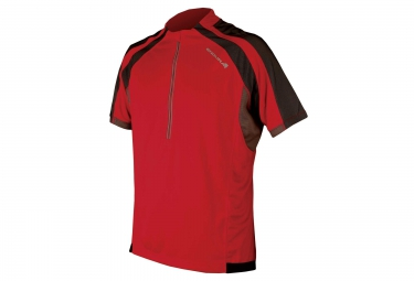 maillot manches courtes endura hummvee rouge m