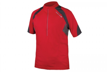 Maillot manches courtes endura hummvee ii rouge s