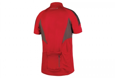 maillot manches courtes endura hummvee lite rouge m