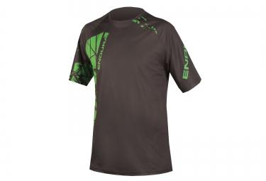 maillot manches courtes endura singletrack vert noir m