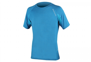maillot manches courtes endura singletrack lite wicking bleu s