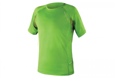 maillot manches courtes endura singletrack lite wicking vert m