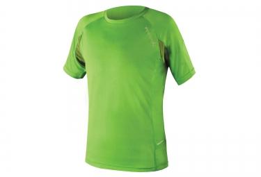 maillot manches courtes endura singletrack lite wicking vert xl