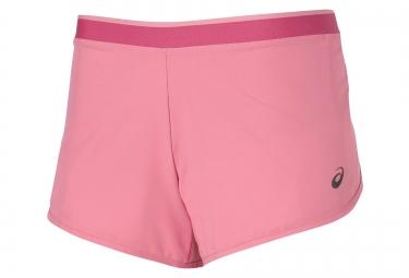 Asics short 2 en 1 9 cm rose femme l