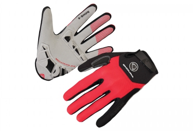 Gants longs endura singletrack plus rouge m