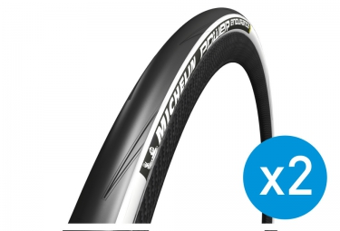 MICHELIN Pack of 2 POWER ENDURANCE Road Tyre - Folding White 23mm