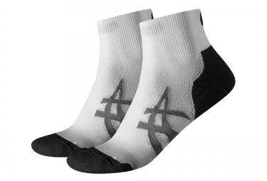 2 paires de chaussettes asics cushionning blanc 35 38