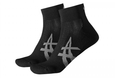 ASICS 2 Pairs of Socks CUSHIONNING Black