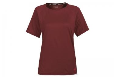 maillot manches courtes femme dakine juniper rouge l