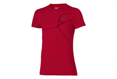 Maillot manches courtes asics elite rouge s