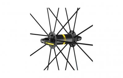roue avant mavic ksyrium pro exalith haute route noir bleu pneu yksion pro 25mm