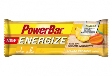 powerbar barre energize c2max 55gr mangue tropical