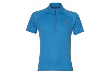maillot manches courtes asics race bleu xl