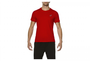 Maillot manches courtes asics race rouge s