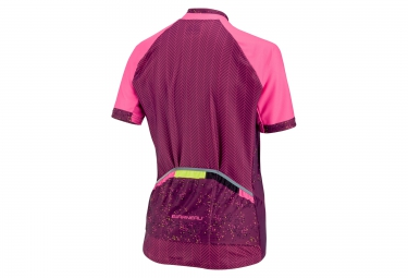 maillot manches courtes femme louis garneau equipe gt series 2016 rose s