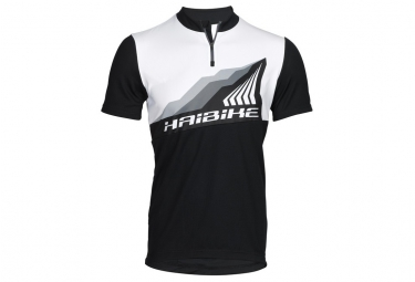maillot manches courtes haibike all mountain noir blanc s