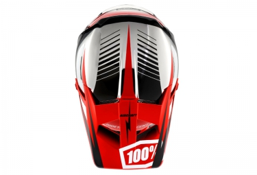 Casco Integral 100% AIRCRAFT TWINBLAZE Argent / Rouge