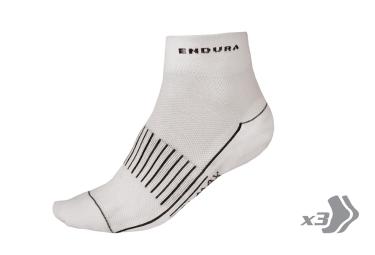 Endura pack de 3 paires de chaussettes coolmax race ii blanc 37 5 42