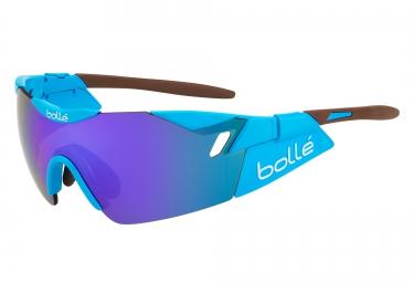 Lunette cyclisme bolle 6th sense ag2r bleu marron violet