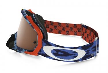 masque oakley mayhem pro mx troy lee design bleu noir iridium ref oo7051 27