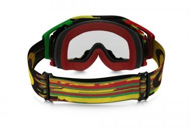 Masque OAKLEY AIRBRAKE MX Rasta - Transparent Réf OO7046-35