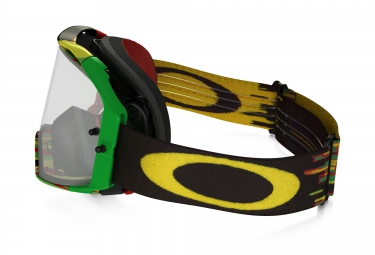 masque oakley airbrake mx rasta transparent ref oo7046 35
