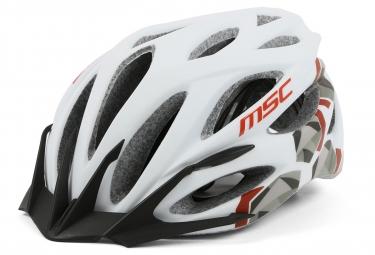 Casque MSC Mtb Inmold Blanc Rouge