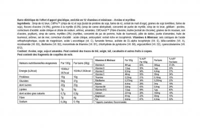 CLIF BAR 5 Barres énergétiques Myrtilles