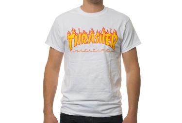 T-Shirt THRASHER FLAME LOGO Blanc