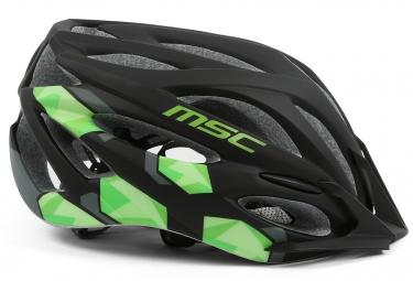 casque msc mtb inmold noir vert m l 59 62 cm