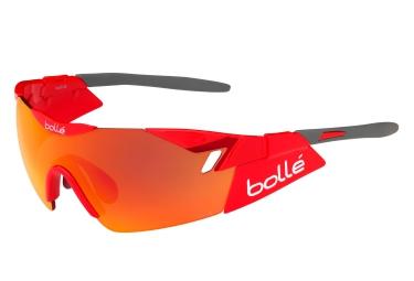 Lunette cyclisme bolle 6th sense rouge gris rouge