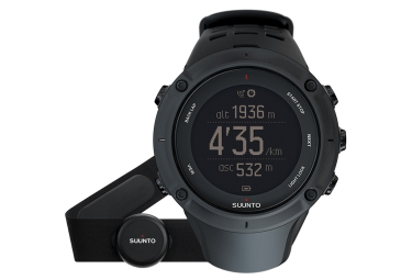 SUUNTO GPS Watch AMBIT3 PEAK HR Black + Smart Sensor Belt