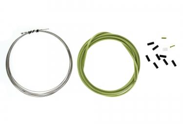 kit cable et gaine derailleur clarks vert