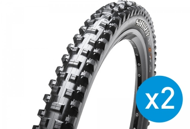 MAXXIS Pair of MTB Tyres SHORTY BUTYL 26'' Wire Super Tacky 42a Dual-Ply 2.40