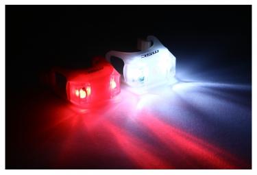 eclairage avant et arriere msc bikes fr2 blanc rouge